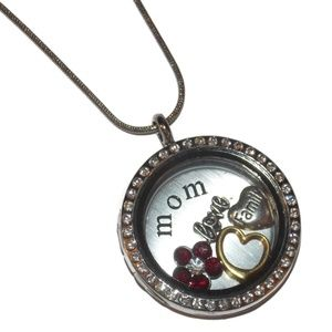 Jewelry - Mom Floating Locket Necklace Custom Made for You